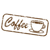 Coffee Rectangular Rubber Stamp Royalty Free Stock Photos