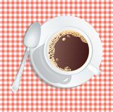 Coffee on red Stock Photography