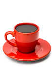 Coffee in Red Cup Royalty Free Stock Image