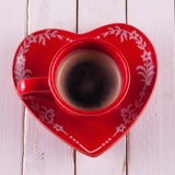 Coffee in red cup Stock Images