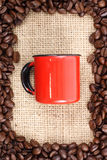 Coffee and red cup Royalty Free Stock Images