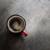 Coffee in red cup Stock Photo