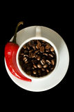 Coffee and Red Pepper Stock Image