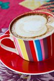 Coffee in red style Royalty Free Stock Images