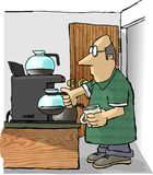 Coffee Refill royalty free illustration
