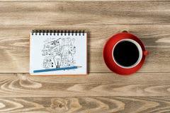 Coffee refreshment break Stock Image