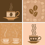 Coffee related illustration Stock Photos