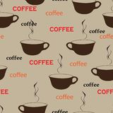Coffee repetition. Pattern in fashion trend colors Stock Photo