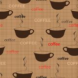 Coffee repetition. Pattern in fashion trend colors Royalty Free Stock Photo