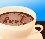 Coffee Rest Represents Relax Cafe And Relaxation Stock Photography