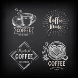 Coffee restaurant cafe badges, template design.  Royalty Free Stock Images