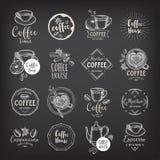 Coffee restaurant cafe badges, template design. stock illustration
