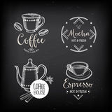 Coffee restaurant cafe badges, template design. Stock Photo