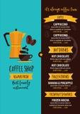 Coffee restaurant cafe menu, tea board template design. Royalty Free Stock Photography