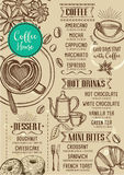 Coffee restaurant cafe menu, template design. Stock Image
