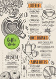 Coffee restaurant cafe menu, template design. Stock Images
