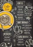 Coffee restaurant cafe menu, template design. stock illustration