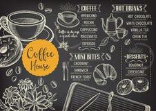 Coffee restaurant cafe menu, template design. royalty free illustration