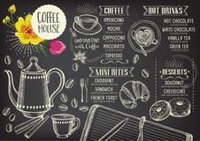 Coffee restaurant cafe menu, template design. Stock Photo
