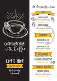 Coffee restaurant cafe menu, template design. Royalty Free Stock Photography