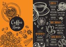 Coffee restaurant cafe menu, template design. Stock Photography