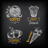 Coffee restaurant cafe menu, template design.  Royalty Free Stock Photos