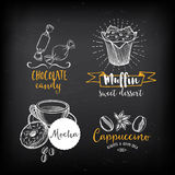 Coffee restaurant cafe menu, template design. Royalty Free Stock Image