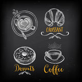 Coffee restaurant cafe menu, template design. Stock Photography