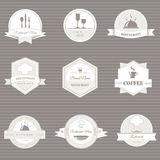 Coffee and restaurant labels Royalty Free Stock Photography