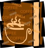 Coffee resturant menu ad  Royalty Free Stock Photo