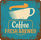 Coffee retro. Banner with coffee cup in retro style Royalty Free Stock Photos