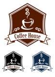Coffee retro banner Stock Image