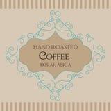 Coffee Retro Design wit florish border. And vintage frame vector illustration