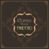 Coffee Retro Design wit florish border. And vintage frame stock illustration