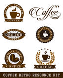 Coffee retro Stock Photos