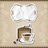 Coffee retro menu Royalty Free Stock Photos