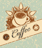Coffee in retro style Stock Images