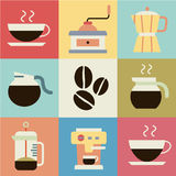 Coffee retro vector. This image is a vector illustration Royalty Free Stock Photo