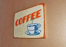 Coffee  retro vintage label Stock Images