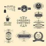 Coffee Retro Vintage Labels Logo design  typography Old st Stock Photo