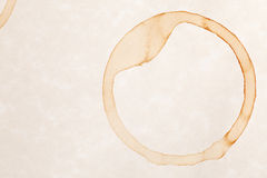Coffee ring stain Stock Photos