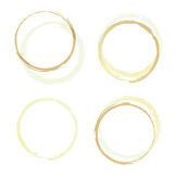 Coffee rings four Royalty Free Stock Photography