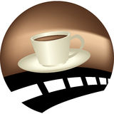 Coffee and road Royalty Free Stock Photo
