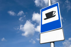 Coffee road sign royalty free stock image
