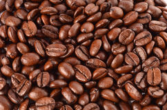 Coffee. Roasted coffee as a background closeup Stock Photography