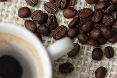 Coffee. Roasted coffee beans on the table Royalty Free Stock Images