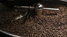 Coffee Roaster Cooling Down Freshly Roasted Coffee stock video