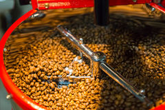 Coffee roasting machine in a coffee house Royalty Free Stock Photo