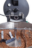 Coffee roasting machine. Modern machine for roasting coffee beans Royalty Free Stock Photo