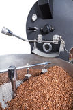 Coffee roasting machine. Modern machine for roasting coffee beans Stock Photo